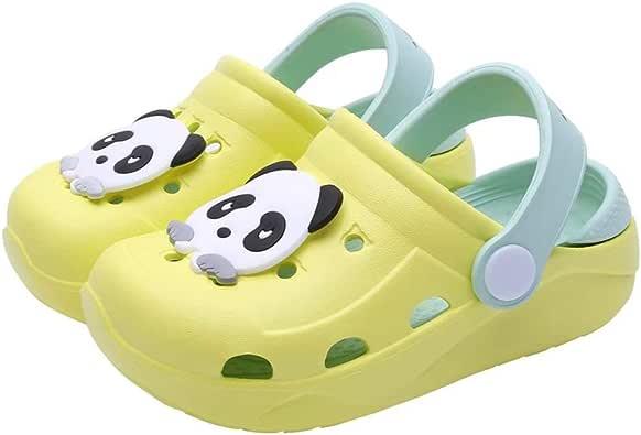 Zuecos Niña Zapatillas Unisex Niños Antideslizantes Chanclas Caricatura Panda Sandalias Zapatos de Jardín: Amazon.es: Zapatos y complementos