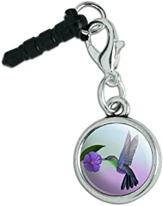 Hummingbird Crowned Woodnymph Purple Violet Mobile Cell Phone Headphone Jack Charm fits iPhone iPod Galaxy
