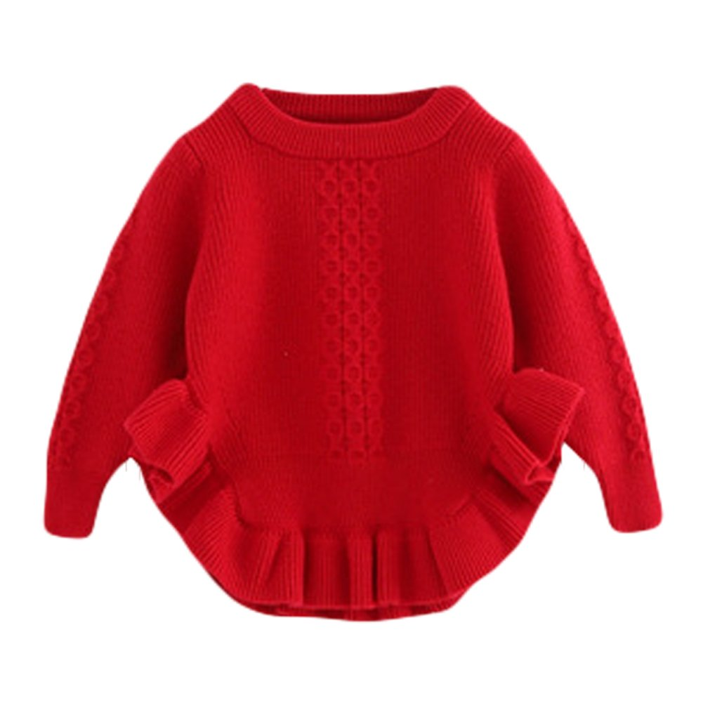 Toddler Baby Girls Pullover Sweaters Infant Knitted Sweater Ruffle LZ-TZ-341