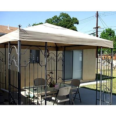 Garden Winds Spears Finial Gazebo Replacement Canopy Top Cover - RipLock 500 : Garden & Outdoor