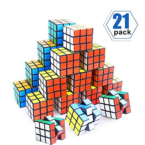 YCSHE 21 Pack Mini Cube, Party Puzzle Toy Gift for Children, Puzzle Game Set for Boys and Girls