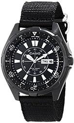 Casio Men's AMW110-1AV Classic Stainless Steel Watch With Black Nylon Band