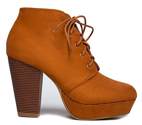 MarBel Boot Black Lita Wine Lace Suede Brown Red Ankle Leopard Heel On Pull Ð Tan Stacked Chunky Platform up Bootie rpqrC