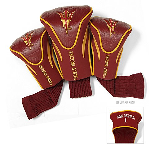 NCAA Contour Head Cover - Pack of 3 NCAA Team: Arizona State by Team Golf
