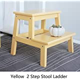 YD-Step stool 2 Step Stool Ladder Kids Kitchen Wood...