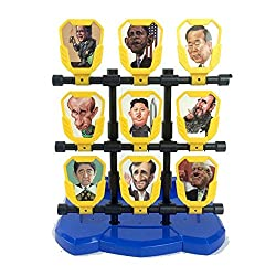 Toonol World Leaders Series Scratchable Latex Target Struck Out Shooting Game