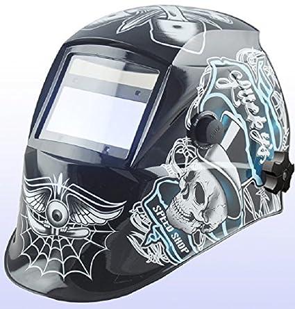 Falcon Auto oscurecimiento soldadura casco máscara de soldar funciona con energía solar (500 G)