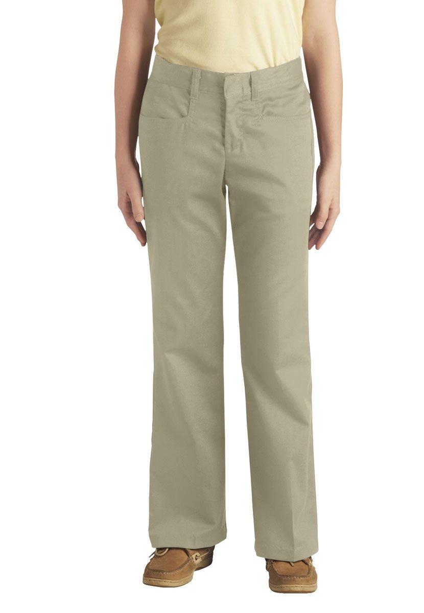 Dickies Girls' Stretch Bootcut Pants 4-6X Sand 4