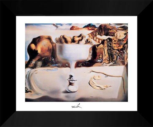 Fruit Dish On Beach 15x18 Framed Art Print by Salvador Dali ()