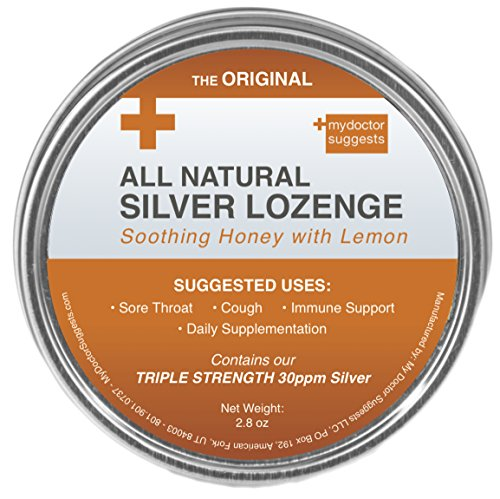 Original All Natural Silver Lozenges   Soothing Honey With Lemon  The Perfect Cough Drop For Cough  Throat   Mouth Health And Immune Support   Contains 30Ppm Silver Solution In Each Drop