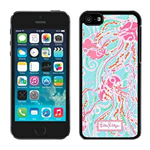Fashionable And Unique Designed Case With Lilly Pulitzer 09 Black For iPhone 5C Phone Case