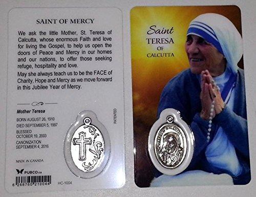 (St. Mother Teresa of Calcutta Prayer Card)