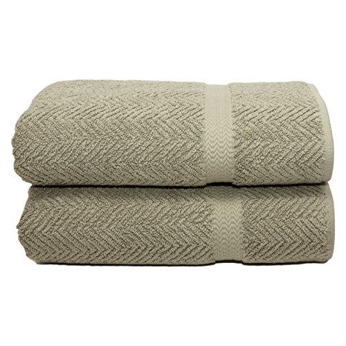 Linum Home Textiles Herringbone 100% Turkish Cotton Bath Sheet (Set of 2)