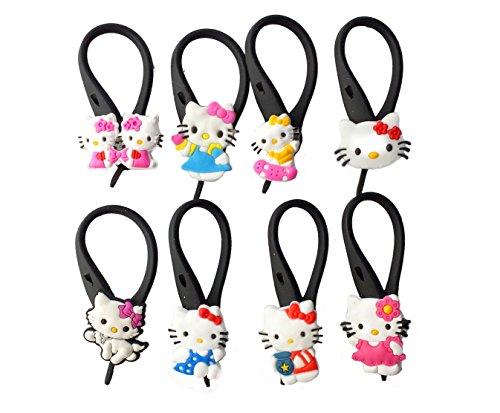 [AVIRGO 8 pcs Soft Zipper Pull Charms for Backpack Bag Pendant Jacket Set # 59-3] (Badtz Maru Costume)
