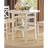 Acme Furniture 72545 Tartys Counter Height Table, Cream