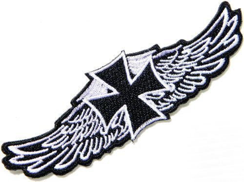 Outlaw Wing - Cross Angel Wings Logo biker Hog Outlaw motorcycle leather jackets custom patches