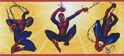 (Marvel Spiderman Yellow Web Wallpaper Wall Border)