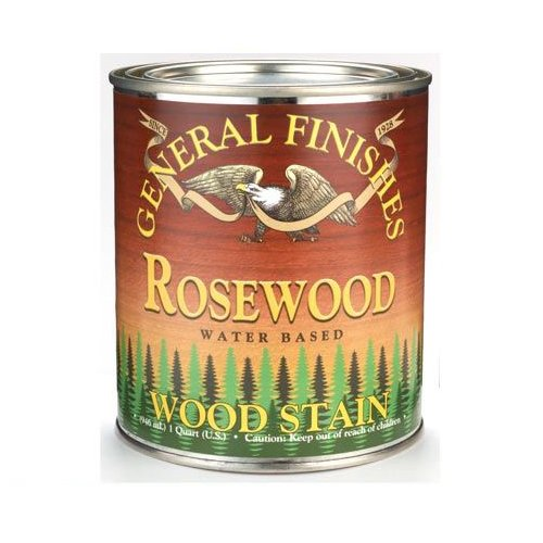 Rosewood Wood Stain - General Finishes Water Based Stain Rosewood Quart