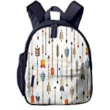 KXJBB Children's Backpack- Casual Oxford Cloth Fashion Ethnic Indian Arrows Print School Bag with Adjustable Shoulder Strap
