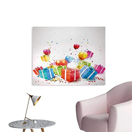 Amazon Com Tudouhoho Birthday Art Poster Surprise Boxes With Bow