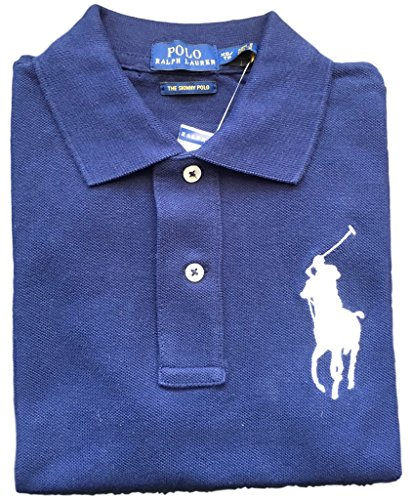 Polo Ralph Lauren Womens Big Pony Polo (Small, Navy white - Polo Ralph Women