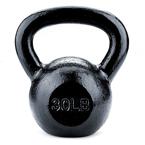 Crown Sporting Goods Black Cast Iron Kettlebell Weights (30lbs)