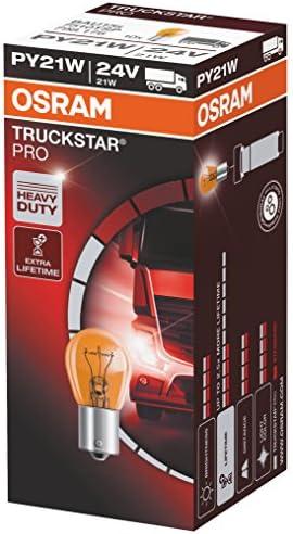 10x OSRAM 7510TSP 24 V PY21W Truckstar Pro Lampe BAU15s LKW Bus