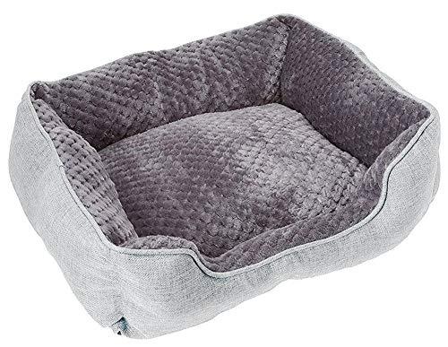 Cozy Cuddlerz C-03DS Light Gray Luxurious Linen Pet Bed, 22″ x 18″ x 7″, Light Gray