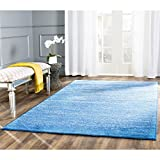 Safavieh Adirondack Collection ADR113F Light Blue and Dark Blue Area Rug, 4 Feet by 6 Feet
