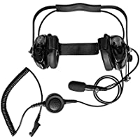 Maxtop AHDH0032-BK-M9 Two Way Radio Noise Cancelling Headset for Motorola MTP850 MTP830 XPR-7380 XPR-7550 XPR-7580