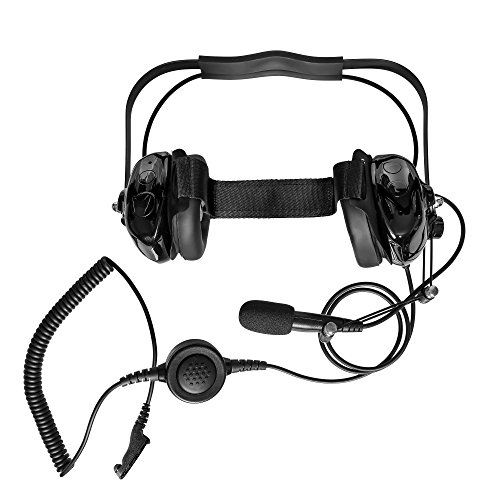 (Maxtop AHDH0032-BK-M9 Two Way Radio Noise Cancelling Headset for Motorola MTP850 MTP830 XPR-7380 XPR-7550 XPR-7580)