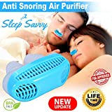 Sleep Savvy New 2-in-1 Anti Snoring Nose Air Purifier Nose Vents Device