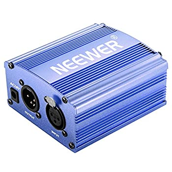 Neewer 1-channel 48v Phantom Power Supply With Adapter & Xlr Audio Cable For Any Condenser Microphone Music Recording Equipment (Blue) 5