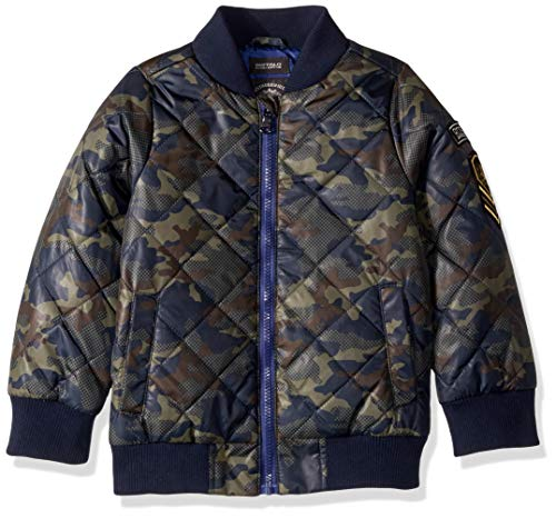 Buffalo by David Bitton Boys' Little Diamond Quilted Bomber Jacket, camo, - Camouflage Jacket Kids Flight