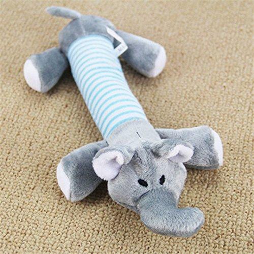 Cat Squeaker Squeaky Plush Sound Toys Funny Pet Dog Plush Chew Throw Squeak Toys H free size ()