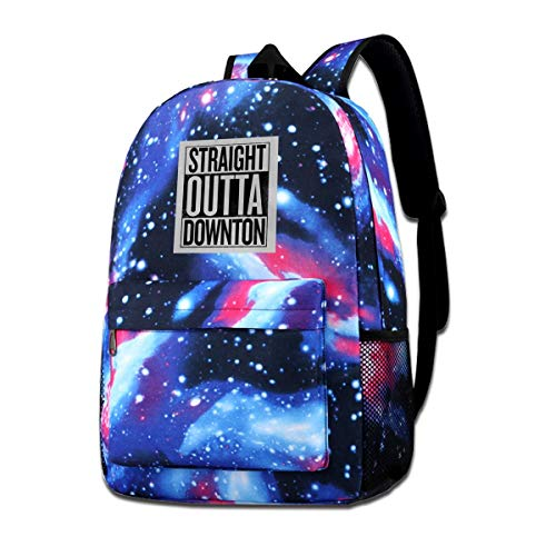 Downton Abbey Shopping Bag (Galaxy Printed Shoulders Bag Straight Outta Downton Abbey Fashion Casual Star Sky Backpack For)