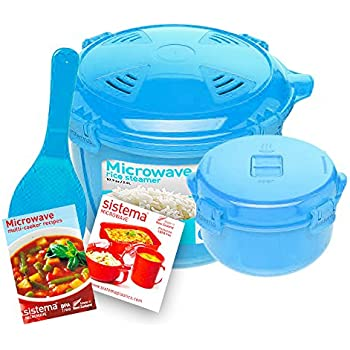 Amazon.com: 2 Tier Microwave Steamer Food Cooker - As Seen