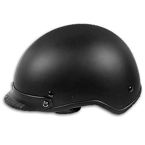 Amazon.com: Flat Black Dot Casco de motocicleta, XS, Negro ...