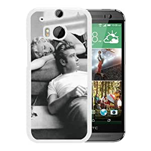 James Dean and Marilyn Monroe 1 White Recommended Customized Design HTC ONE M8 Case