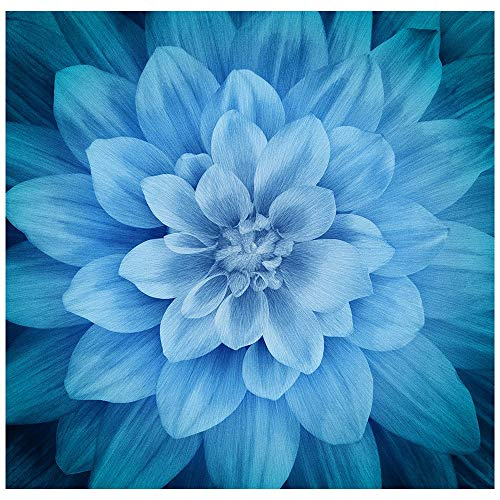 Hoffman Fabrics Digital Spectrum Dream Big Dahlia Panel Atlantic 42 inch Panel ()