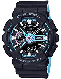 Men's G-Shock GA110PC-1A Black Rubber Analog Quartz Sport...
