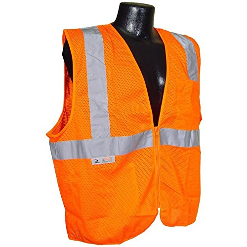 Radians SV2ZOMS Hi Vis Orange 2 Pocket Economy Class 2 Vest Zipper 2