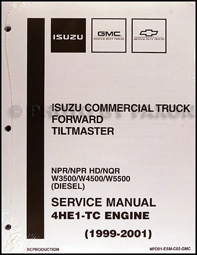 Isuzu Diesel Engines - 1999-2004 Diesel Engine 4HE1-TC Repair Shop Manual Isuzu NPR NQR W3500 W4500 W5500