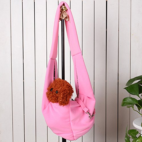 [Freerun Hands-free Reversible Small Dog Cat Sling Carrier Bag Travel Tote Soft Comfortable Puppy Kitty Rabbit Double-sided Pouch Shoulder Carry Tote Handbag] (Homemade Penguin Costumes)