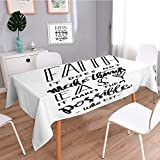 Square Linen Tablecloth,faith does not make things easy it makes them possible bible verse hand lettered quote modern,Printed Pattern Washable Table cloth Dinner Home Decor