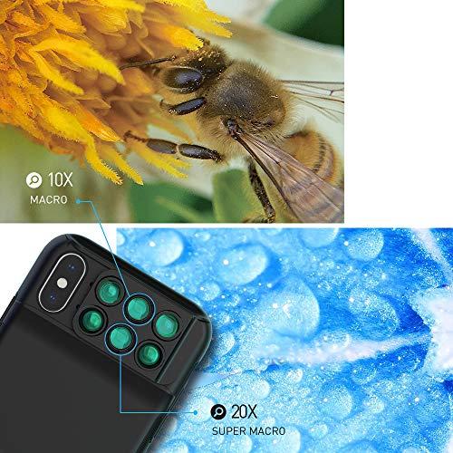 MOMAX Lens Case for Apple iPhone X: 6 in 1 Dual Optics Lens