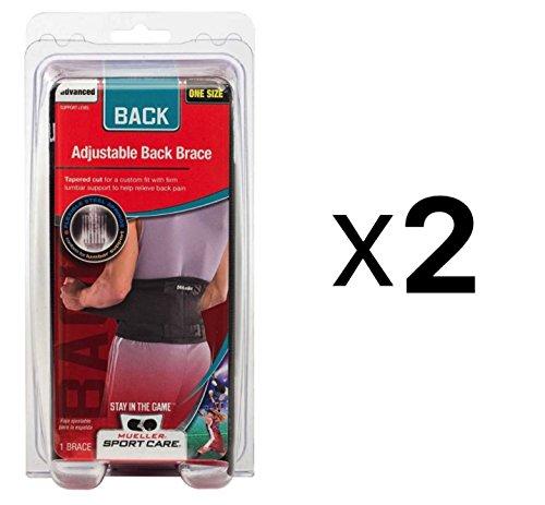 Mueller Sport Care Mueller Sport Care Adjustable Back Brace One Size Black, Black each (Pack of 2) by Mueller