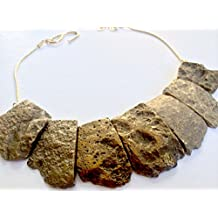 Hand-Made Gold-Plated Agate Chunky Necklace by Samantha House