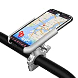 Motorcycle Phone Mount, Adjustable Anti Shake Metal Bike Phone Holder for iPhone Xs Max/XR/X/8/7/6 Plus Samsung Galaxy S9/S8/S7/S6 GPS, Holds Devices from 2.36