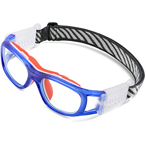 Ponosoon Sports Goggles Glasses for KIDS for Basketball Football Volleyball 1812(Transparent - Goggles Basketball